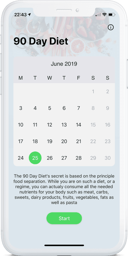90 day diet application